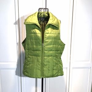 Green Puffer Vest Kenneth Cole Size Large